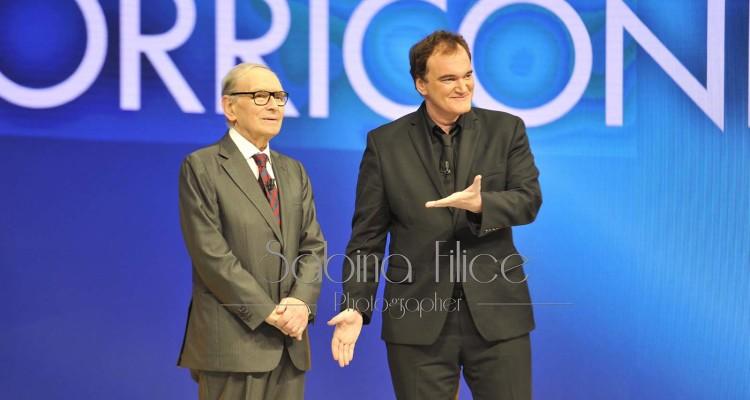 Ennio Morricone e Quentin Tarantino. David di Donatello 2015. Ph. Sabina Filice