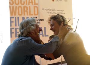 Leo Gulotta e Valeria Golino al Social World film festival