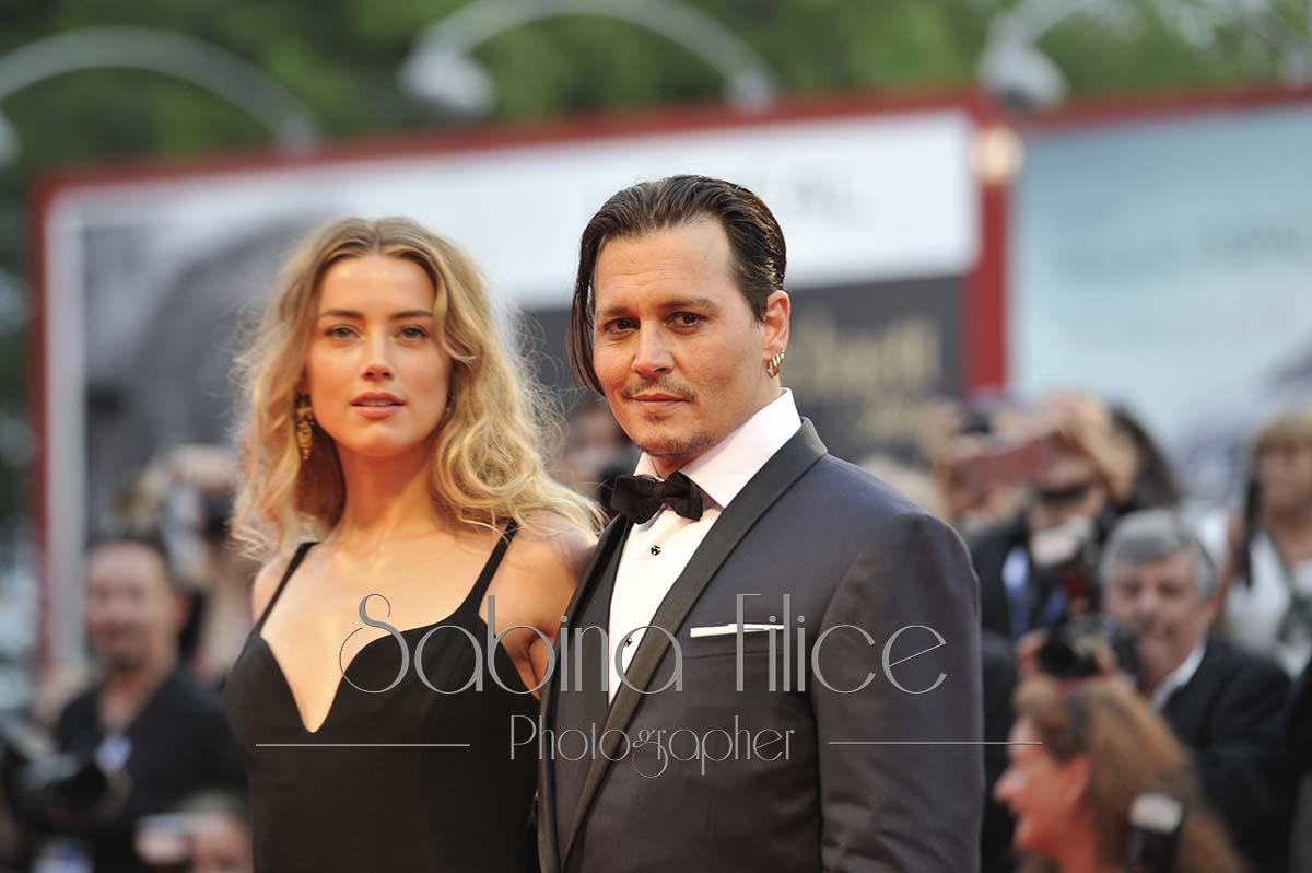 Johnny Depp red carpet Venezia. Ph. S. Filice