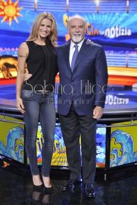 Antonio Ricci e Michelle Hunziker Striscia La Notizia. Ph. S. Filice