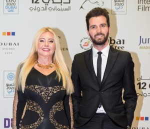 Andrea-Iervolino-and-Monika-Bacardi-on-the-red-carpet-of-Closing-night-