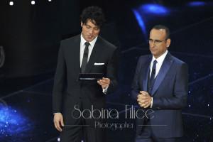 Gabriel Garko e Carlo Conti- Sanremo 2016
