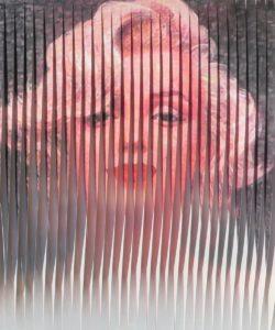 Olga Volha Phashko - Marlyn 120X100cm 2016 tecnica mista su tela, opera tridimensionale