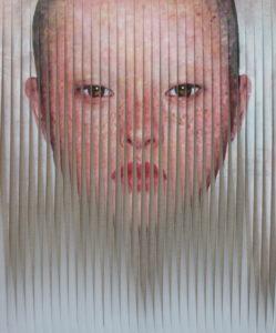 Olga Volha_Piashko_She 120x100 2015 tecnica mista su tela, opera tridimensionale