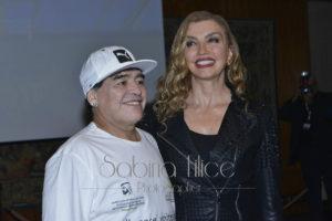 DIego Armando Maradona eMilly Carlucci: Partita per la Pace