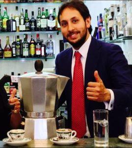 Michele Sergio direttore del Caffè Gambrinus