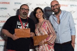 Max Bruno, Ilenia Pastorell, Nicola Guaglianone all'Ischia Film Festivali e