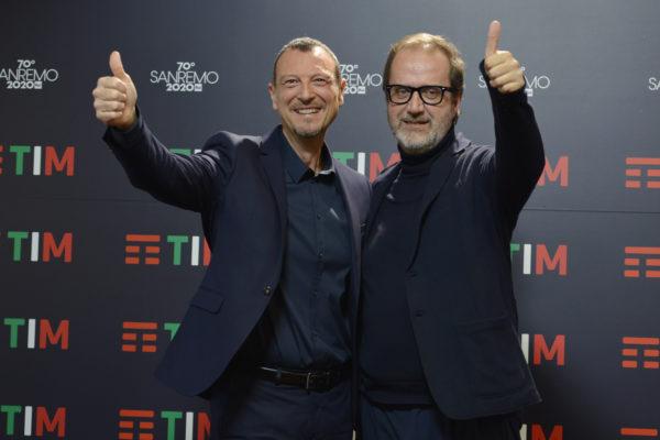 Amadeus e Stefano Coletta Sanremo 2020