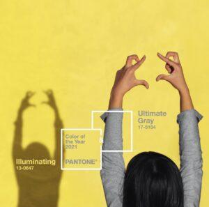 pantone 2021; pantone; pantone illuminati; pantone ultimate Gray; yellow; gray; giallo e grigio; the colours of year